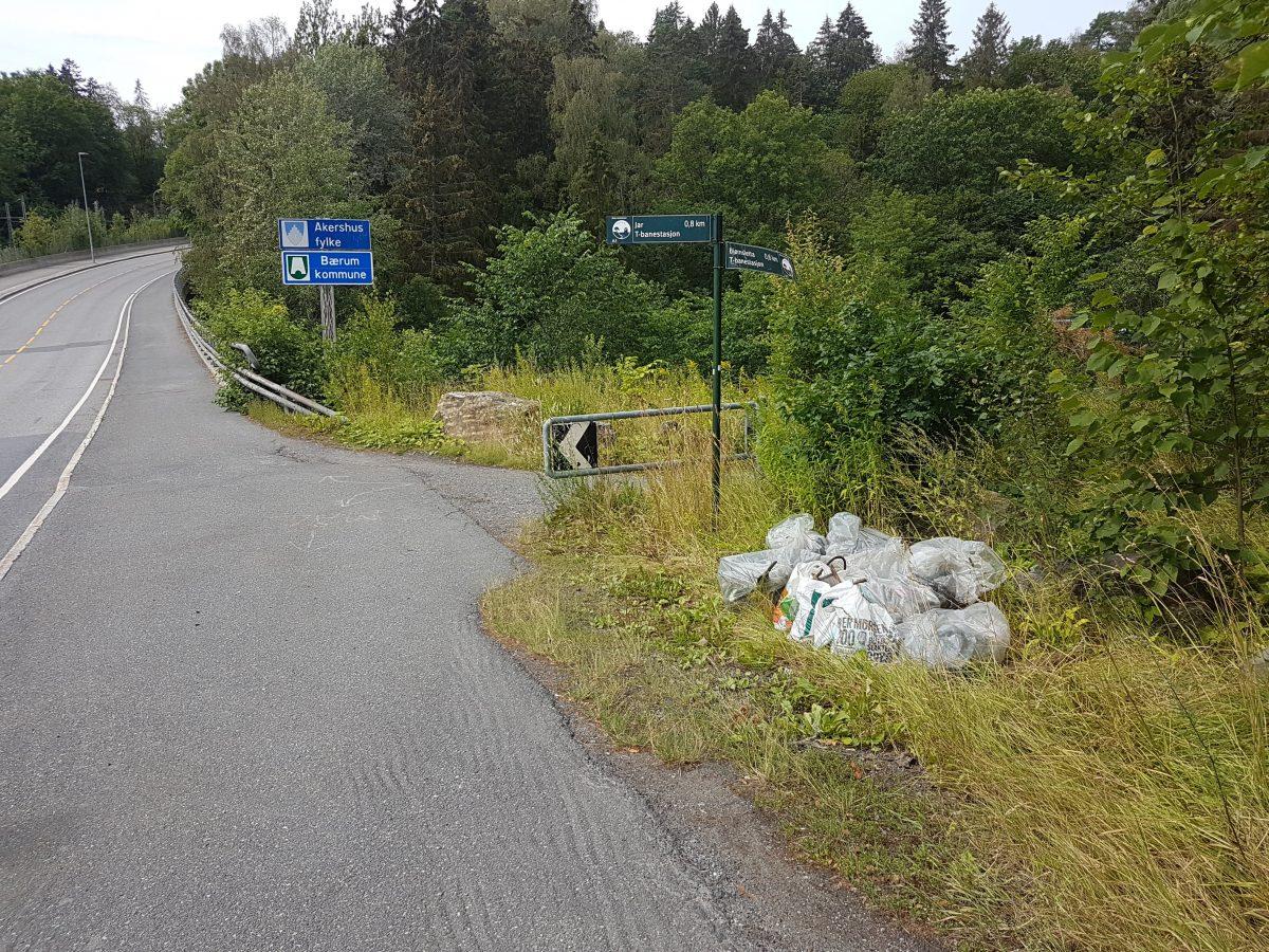 Lysehagan over brua mellom Bærumsveien og Lysakerelva.