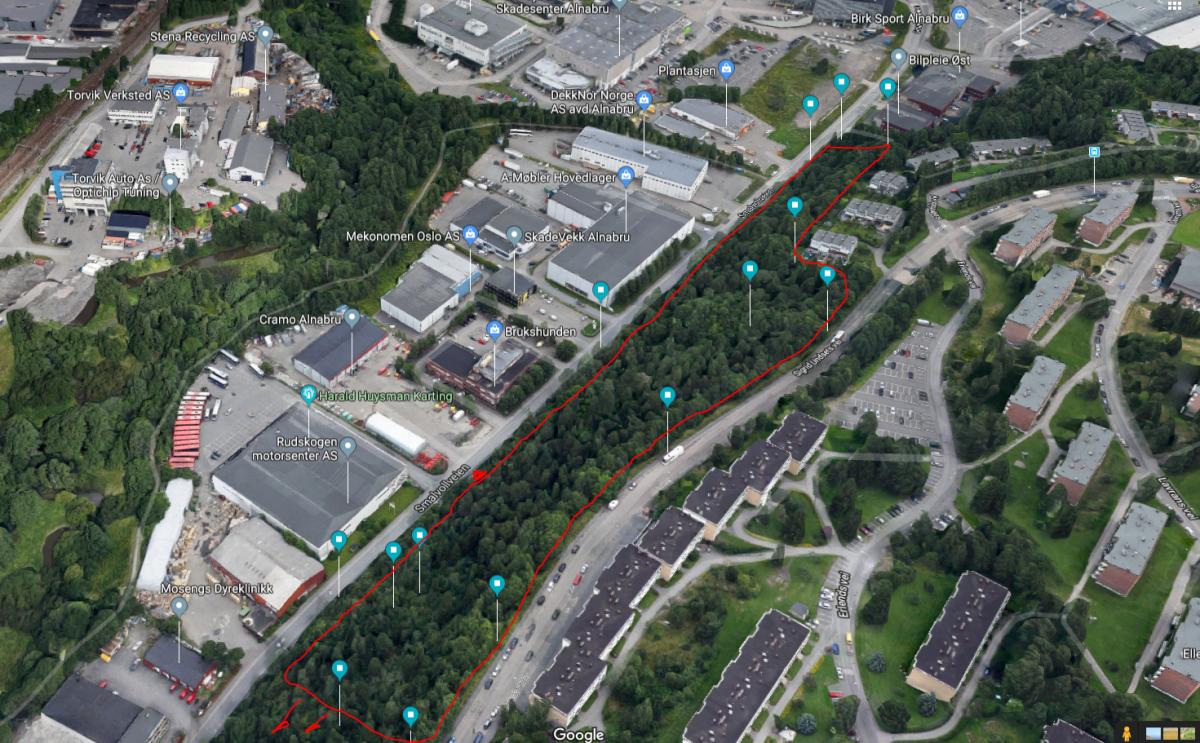 Alnabru mellom Smalvollveien og Sigrid Undsets vei (Nord) Depot 1