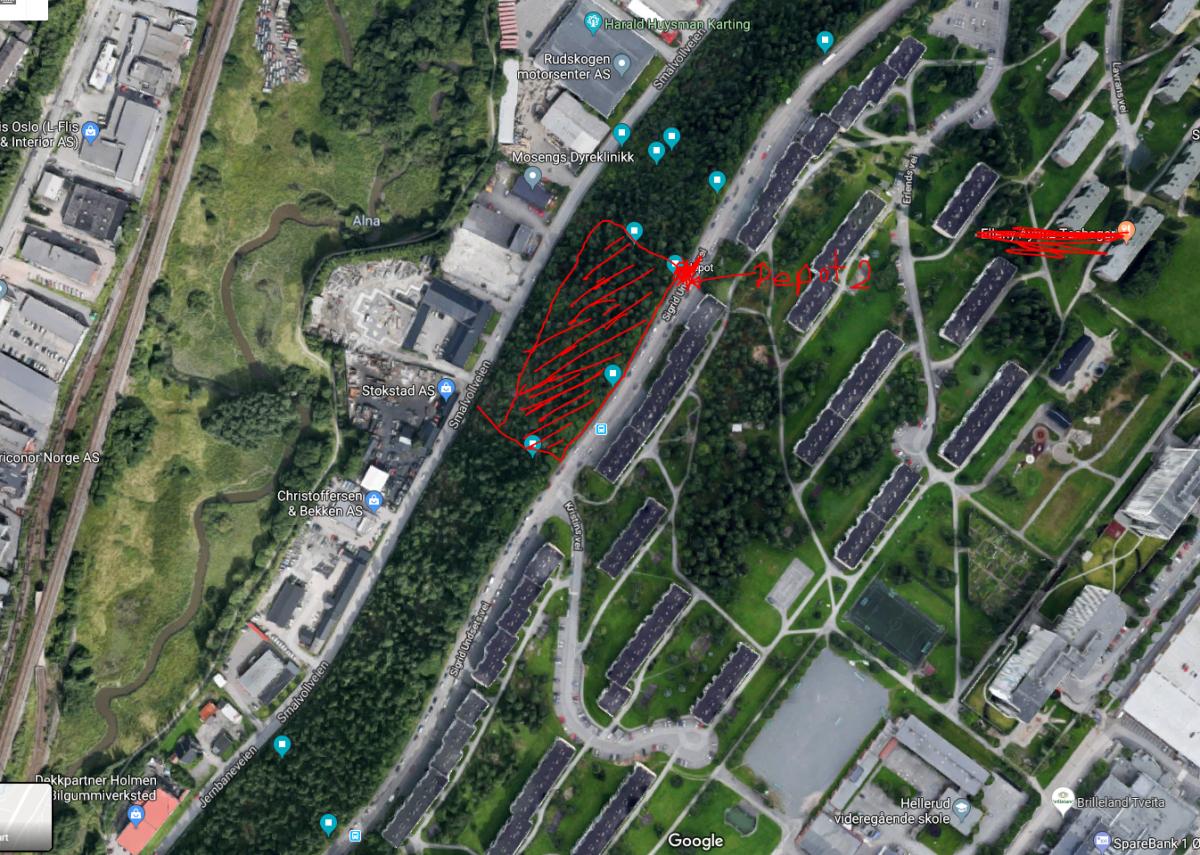Alnabru mellom Smalvollveien og Sigrid Undsets vei (Nord) Depot 2