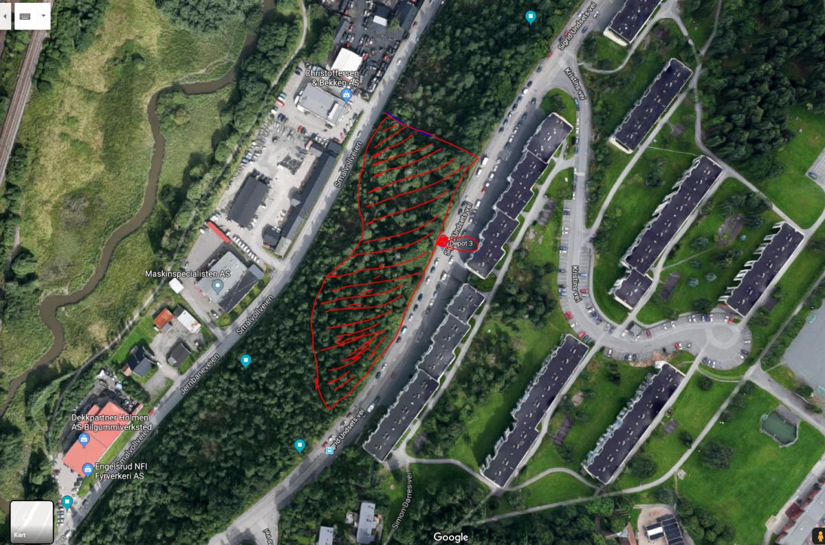 Alnabru mellom Smalvollveien og Sigrid Undsets vei (Nord) Depot 3
